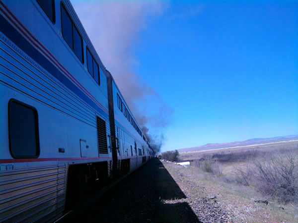 "<div class=""meta image-caption""><div class=""origin-logo origin-image ""><span></span></div><span class=""caption-text"">The California Zephyr was en route from Chicago to Emeryville, Calif. (Photo courtesy of KXTV viewer Jim Bickley)</span></div>"