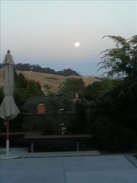Supermoon over San Leandro. (Photo submitted via uReport)