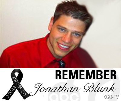 Navy veteran Jonathan T. Blunk, 26, of Aurora, Colo., served three tours of duty between 2004 and 2009. He threw himself over a friend to keep her from getting shot.