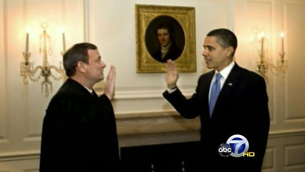 Obama repeats his oath of office