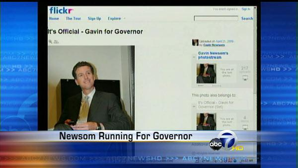 Mayor Newsom running for governor