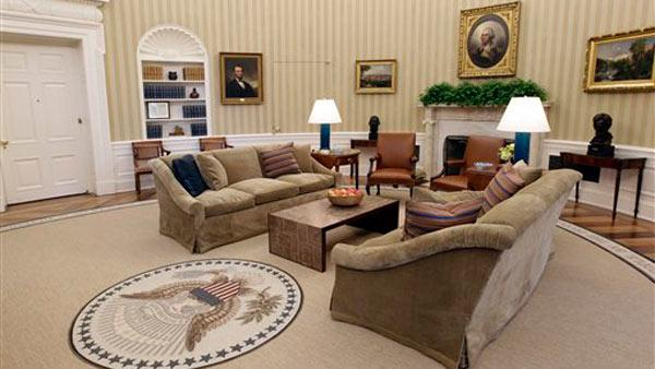 Renovations to the Oval Office, including