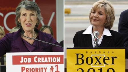 Democratic Sen. Barbara Boxer is leading Republican challenger Carly Fiorina in a Field Poll.
