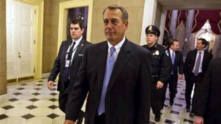 House Speaker John Boehner of Ohio walks of the floor of the House chamber on Tuesday, Dec. 20, 2011, in Washington.