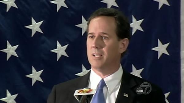 Rick Santorum in Fairfield for symbolic reason