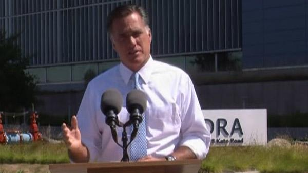 Romney stages campaign event at Solyndra plant