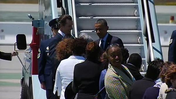 President Obama fundraising in brief Bay Area visit
