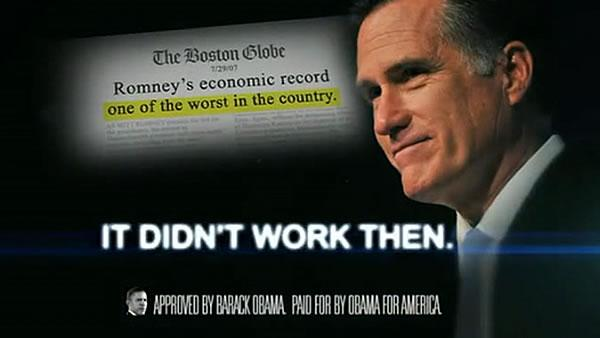 FactCheck: Obama's ad attacks Romney's record
