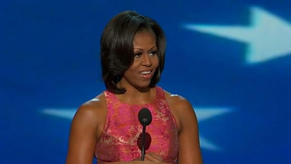 First lady strikes personal chord in DNC speech