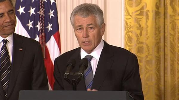 Obama taps Hagel for Pentagon, Brennan for security