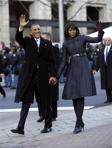 President Barack Obama, and first lady Michelle...
