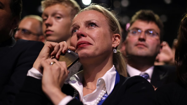 "<div class=""meta ""><span class=""caption-text "">A supporter cries as President Barack Obama speaks during an election night party, Wednesday, Nov. 7, 2012, in Chicago. Obama defeated Republican challenger former Massachusetts Gov. Mitt Romney. (AP Photo/Matt Rourke)</span></div>"