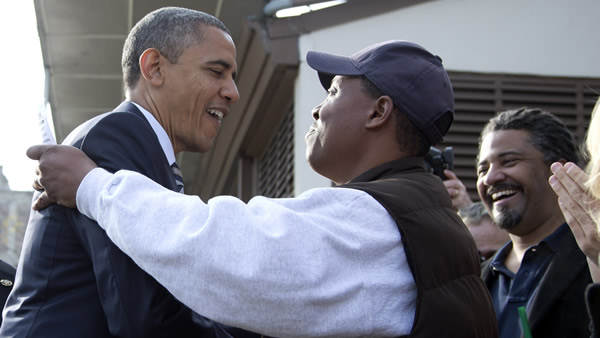 "<div class=""meta ""><span class=""caption-text "">President Barack Obama visits with people outside a campaign office the morning of the 2012 election, Tuesday, Nov. 6, 2012, in Chicago. (AP Photo/Carolyn Kaster)</span></div>"