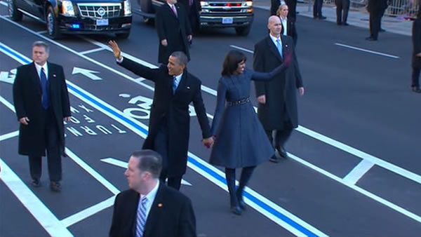 "<div class=""meta image-caption""><div class=""origin-logo origin-image ""><span></span></div><span class=""caption-text"">President Barack Obama's inaugural parade on Capitol Hill in Washington, Monday, Jan. 21, 2013, after the president's ceremonial swearing-in ceremony during the 57th Presidential Inauguration.</span></div>"