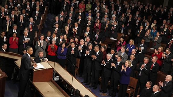 President Barack Obama delivers his State of the Union address at the Capitol in Washington, Tuesday, Jan. 25, 2011. (AP Photo/Evan Vucci)