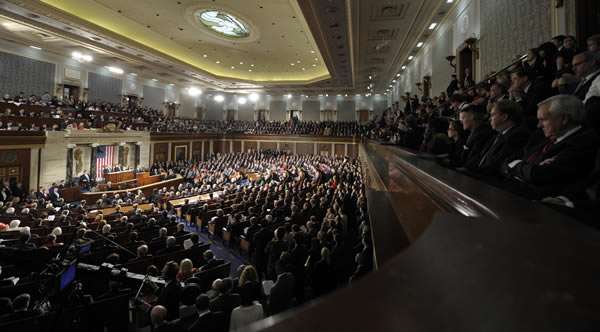 President Barack Obama delivers his State of the Union address on Capitol Hill in Washington, Tuesday, Jan. 24, 2012. <span class=meta>(AP Photo&#47;Susan Walsh)</span>