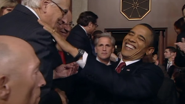 President Barack Obama before his State of the Union address on Capitol Hill in Washington, Tuesday, Jan. 24, 2012.