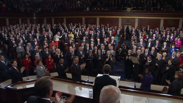 President Barack Obama delivers his State of the Union address on Capitol Hill in Washington, Tuesday, Jan. 24, 2012.