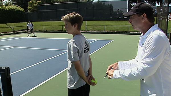 Ball kids prepare for Bank of the West Classic
