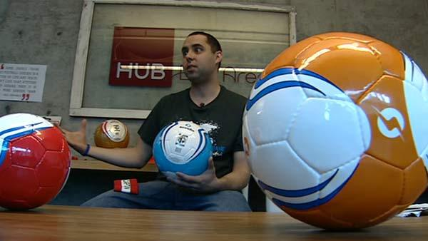 Man creates company for fair trade soccer balls