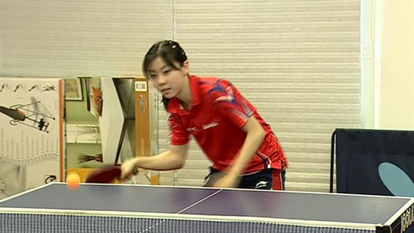 15-year-old girl serves it up in table tennis