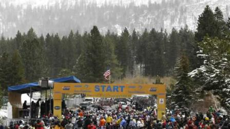 Riders await the start of the first stage of the Tour of California cycling race, in State Line, Nev. Sunday, May 15, 2011.