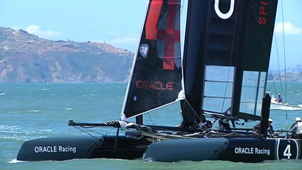 ABC7 hops on board Oracle training catamaran