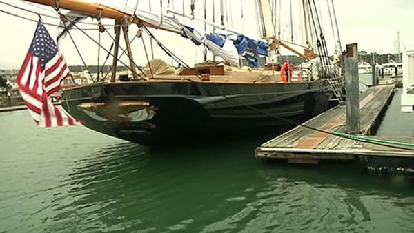 Replica of first yacht to win America's Cup in SF Bay