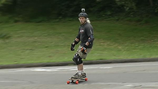 76-year-old skateboarder rolls through life