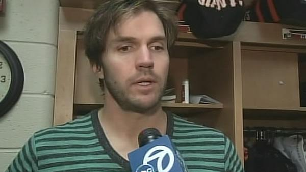 Giants pitcher Barry Zito talks to ABC7
