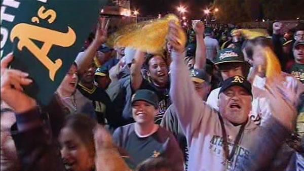 Fans cheer on A's to Game 3 victory