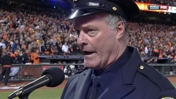 World Series singing cop an overnight sensation