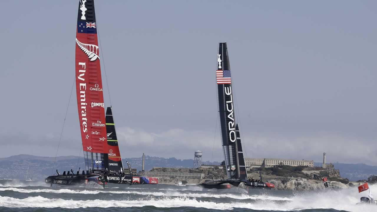 Emirates Team New Zealand and Oracle Team USA.