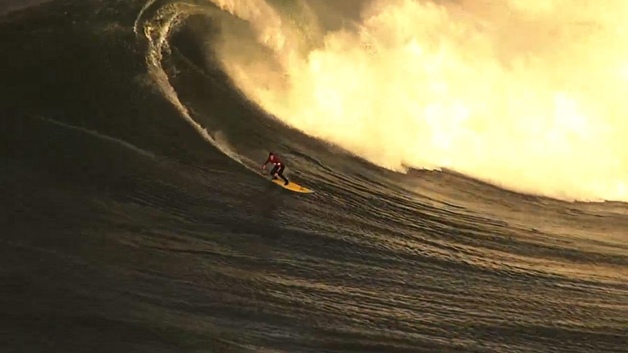 Surfer at Mavericks