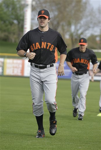 San Francisco Giants&#39; Barry Zito during a spring training baseball workout Sunday, Feb. 19, 2012, in Scottsdale, Ariz.  <span class=meta>(AP Photo&#47;Darron Cummings)</span>