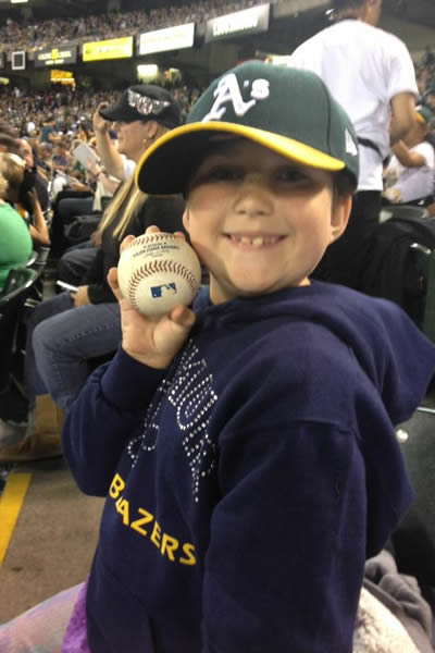 "<div class=""meta image-caption""><div class=""origin-logo origin-image ""><span></span></div><span class=""caption-text"">If you're a proud Oakland A's fan send your photos to uReport@kgo-tv.com and they could be featured on TV! (KGO Photo/submitted by Kelly C. via Facebook)</span></div>"