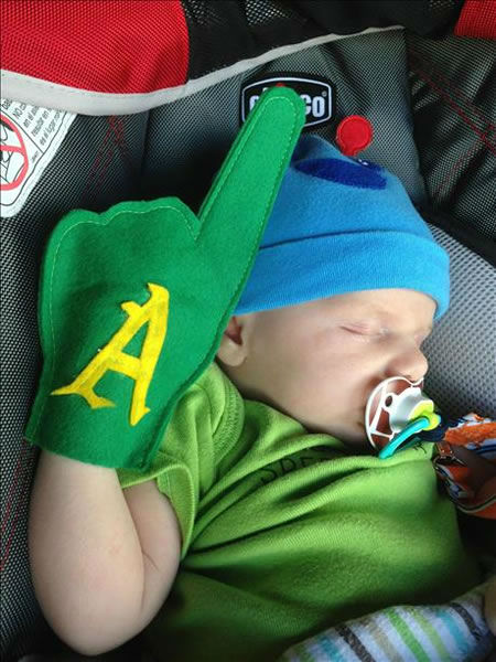 If you&#39;re a proud A&#39;s fan send us your photos and they could be featured on TV! uReport@kgo-tv.com <span class=meta>(KGO Photo&#47; submitted via uReport)</span>