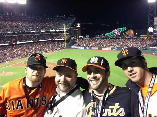 Giants fans at 2012 World Series, Game 1. (Submitted via u