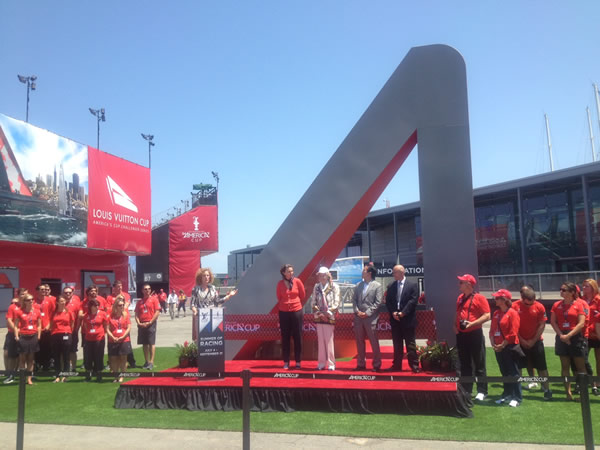 America&#39;s Cup ribbon cutting Thursday, July 4, 2013 in San Francisco <span class=meta>(KGO)</span>