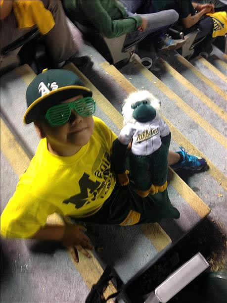 "<div class=""meta ""><span class=""caption-text "">  If you're a proud A's fan send your photos to uReport@kgo-tv.com and they could be featured on TV! (Photo submitted via uReport by anonymous user)</span></div>"