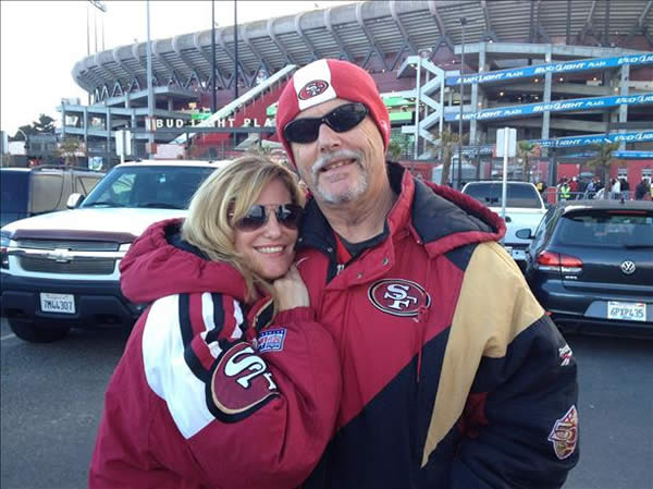 &#34;Our Candlestick love story. On 11&#47;17&#47;85 the Niners were playing against the Kansas City Chiefs. It was my first Niner game and our first date. It was where we shared our first kiss and where we fell in love. We are happily married with 5 children and 5 grandchildren. We are still 49er faithful and will always cherish all the wonderful memories we have experienced at The Stick.&#34; <span class=meta>(Submitted by Roxanne Susoeff via ureport)</span>