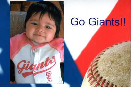 This is 3-month-old Giants fan Khloe Jennings. <span class=meta>(submitted by Jessica Jennings via uReport)</span>