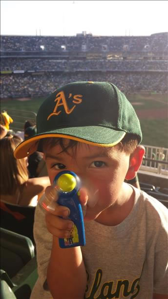 If you&#39;re a proud A&#39;s fan send us your photos and they could be featured on TV! uReport@kgo-tv.com &#40;KGO Photo&#47; submitted via uReport&#41; <span class=meta>(KGO Photo&#47; submitted via uReport)</span>
