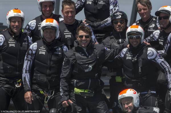 Tom Cruise went sailing with Emirates Team New Zealand at Americca&#39;s Cup on July 28th, 2013. <span class=meta>(@americascup on Twitter)</span>