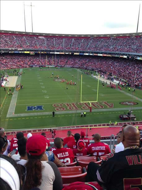 &#34;I went to the game against the Vikings last august and I enjoyed it cause it was the best way to spend the last weekend of my summer. :&#41;&#34; The time has come to say goodbye - let&#39;s preserve the memories.  Send us your favorite Candlestick pics.  We may share them on air! <span class=meta>(photo submitted by Louise Ponla via uReport)</span>