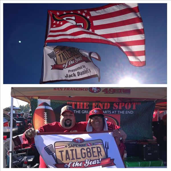 &#34;Father and Son Tailgaters of the Year 2013!  The End Spot.&#34; The time has come to say goodbye - let&#39;s preserve the memories.  Send your favorite Candlestick pics to uReport@kgo-tv.com.  We may share them on air! <span class=meta>(photo submitted by calicards via uReport)</span>