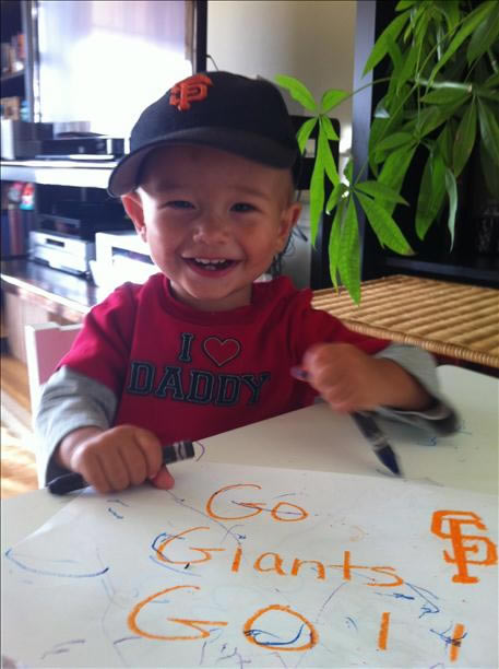 Excited little Giants fan (Sent via uReport)