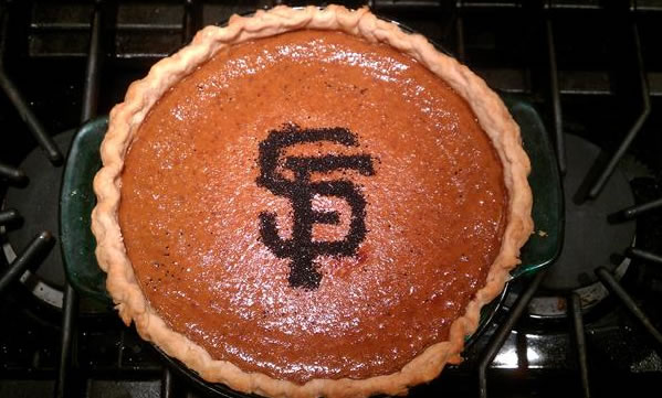 Giants pumpkin pie! (Photo submitted by Kim via...