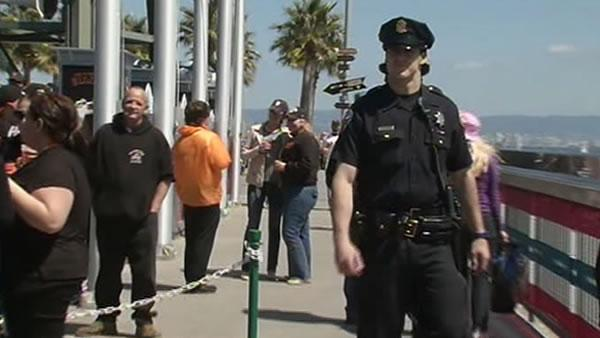 Giants beef up security ahead of Dodgers series