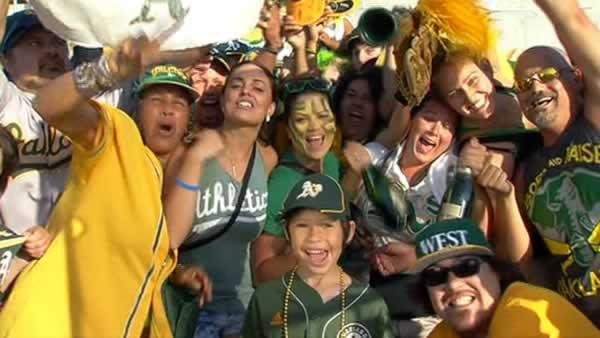 Raucous crowd takes in Oakland A's victory